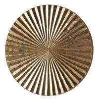 Apollo Metallic Silver Modern Wood Circle Wall Art Decor ...