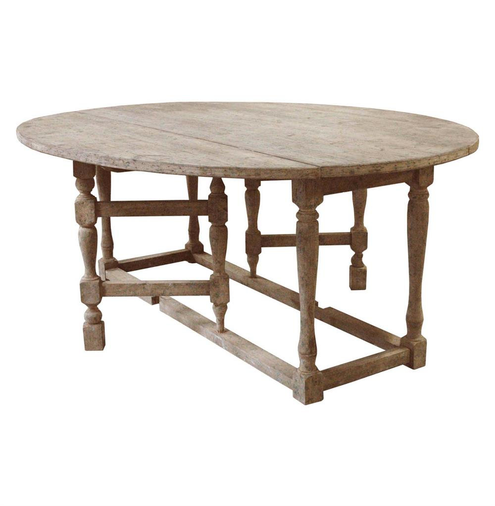 Swedish Gustavian Grey Oval Gate Leg Drop Leaf Dining Table