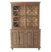 French Country Plantation 2 Door Hutch Cabinet- Small ...