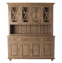 French Country Plantation 4 Door Hutch Cabinet- Large ...