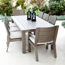 Sunset West Laguna Modern Brown Aluminum Outdoor Dining