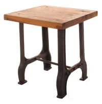 Foundry Reclaimed Wood Cast Iron Base End Table | Kathy ...