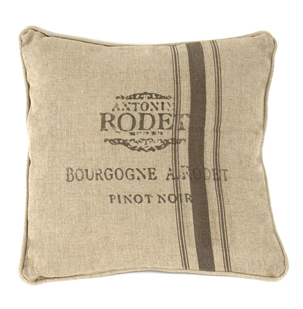 French Country Farm Stand Pinot Noir Stripe Throw Pillow