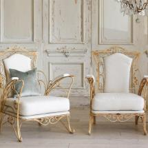 Eloquence French Country Style Vintage Garden Chairs - Set