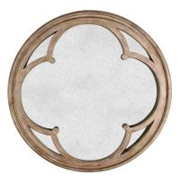 Alhambra French Country Hand Antiqued Circular Wood Mirror ...