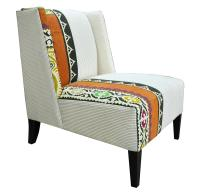 Orange Patterned Accent Chair | myideasbedroom.com