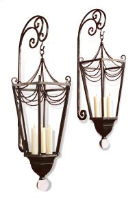 Perpignon Large Metal Ornate French Wall Candle Sconce ...