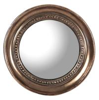 Julian Antique Bronze Distressed Small Round Convex Mirror