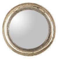 Julian Antique Gold Champagne Small Round Convex Mirror ...