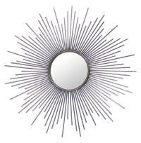 Marlie Hollywood Regency Antique Silver Sunburst Mirror ...