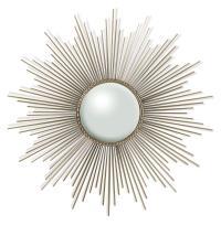 Alessandra Hollywood Regency Silver Sunburst Convex Mirror ...