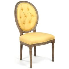 Tufted Yellow Chair Pedicure Parts Suppliers Madeleine Oval Linen Limed Oak Dining Side Kathy Kuo Home
