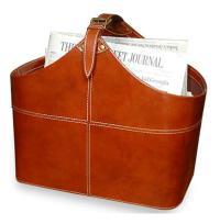 Ellington Contemporary Leather Magazine Holder   Kathy Kuo ...