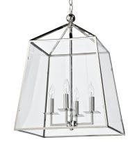 Tesla Industrial Loft Modern Trapezoid Silver Metal Glass ...