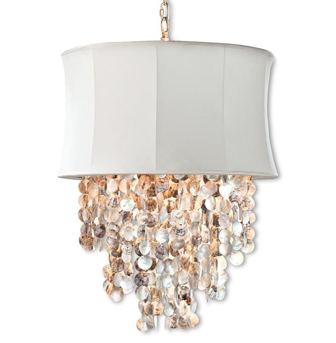 Queensland Coastal Beach Abalone Shell Ivory Chandelier Kathy Kuo Home
