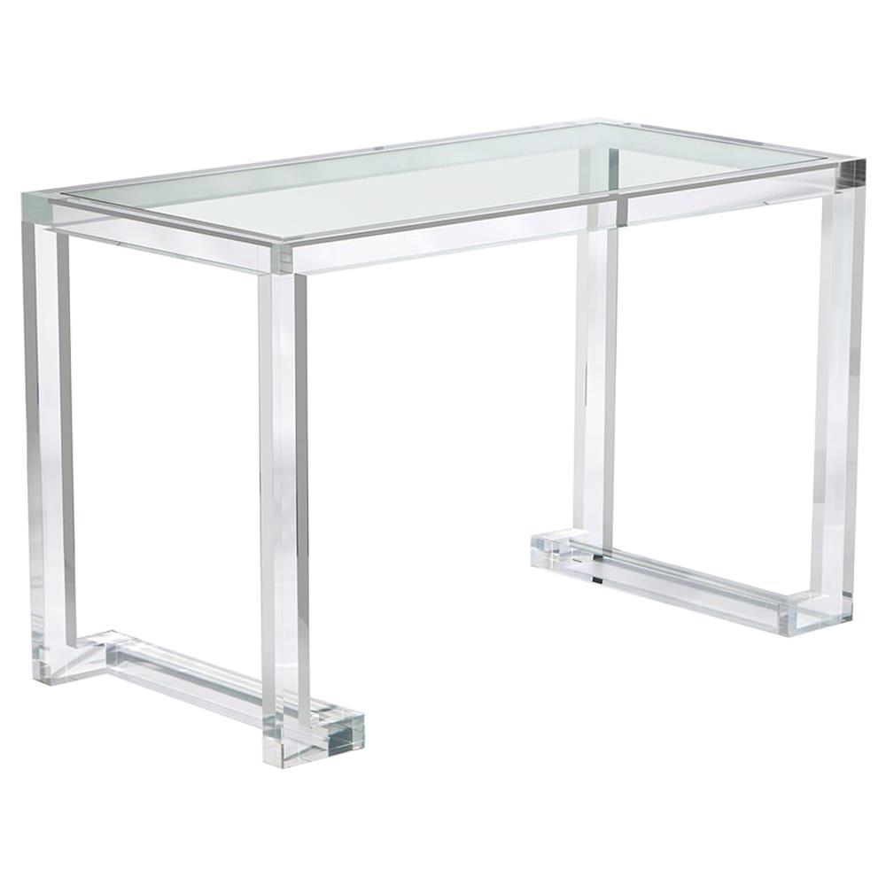 Interlude Ava Hollywood Regency Modern Acrylic Small Desk