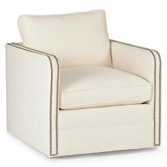 Swivel Arm Chairs Patio With Ottoman Reeves Classic Ivory Linen Upholstered Chair Kathy Kuo Home