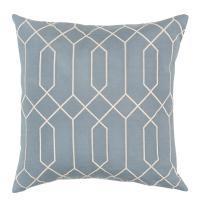 Kylie Hollywood Regency Linen Down Light Blue Pillow - 18x18