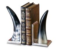 Ono Modern Buffalo Horn Bookends | Kathy Kuo Home