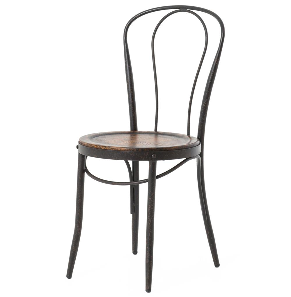 parisian cafe table and chairs office depot fouquet bistro bent iron chair | kathy kuo home