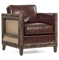 Beck Industrial Rustic Lodge Masculine SquareBrown Leather ...