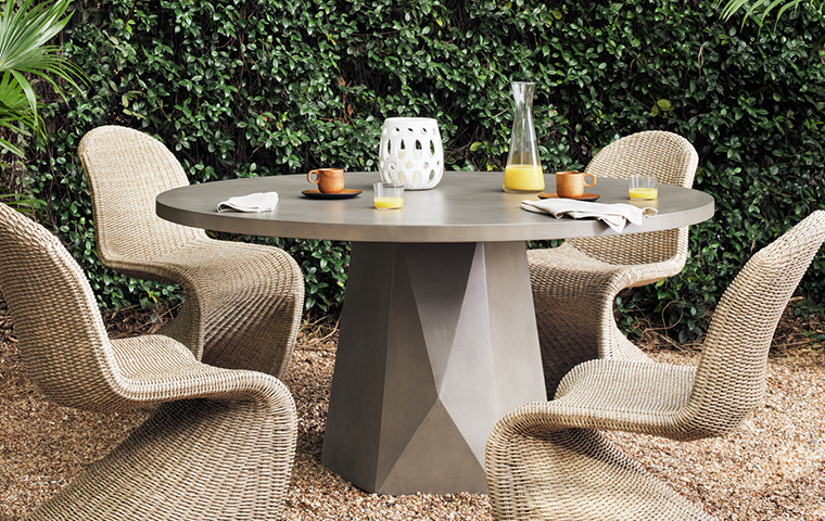 concrete outdoor furniture kathy kuo home