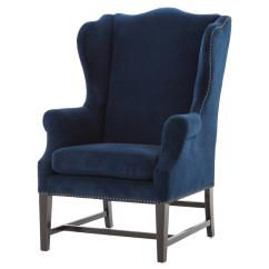 Royal Blue Chairs Skirted Parsons Chair Gracie Art Deco Velvet Classic Wing Kathy Kuo Home
