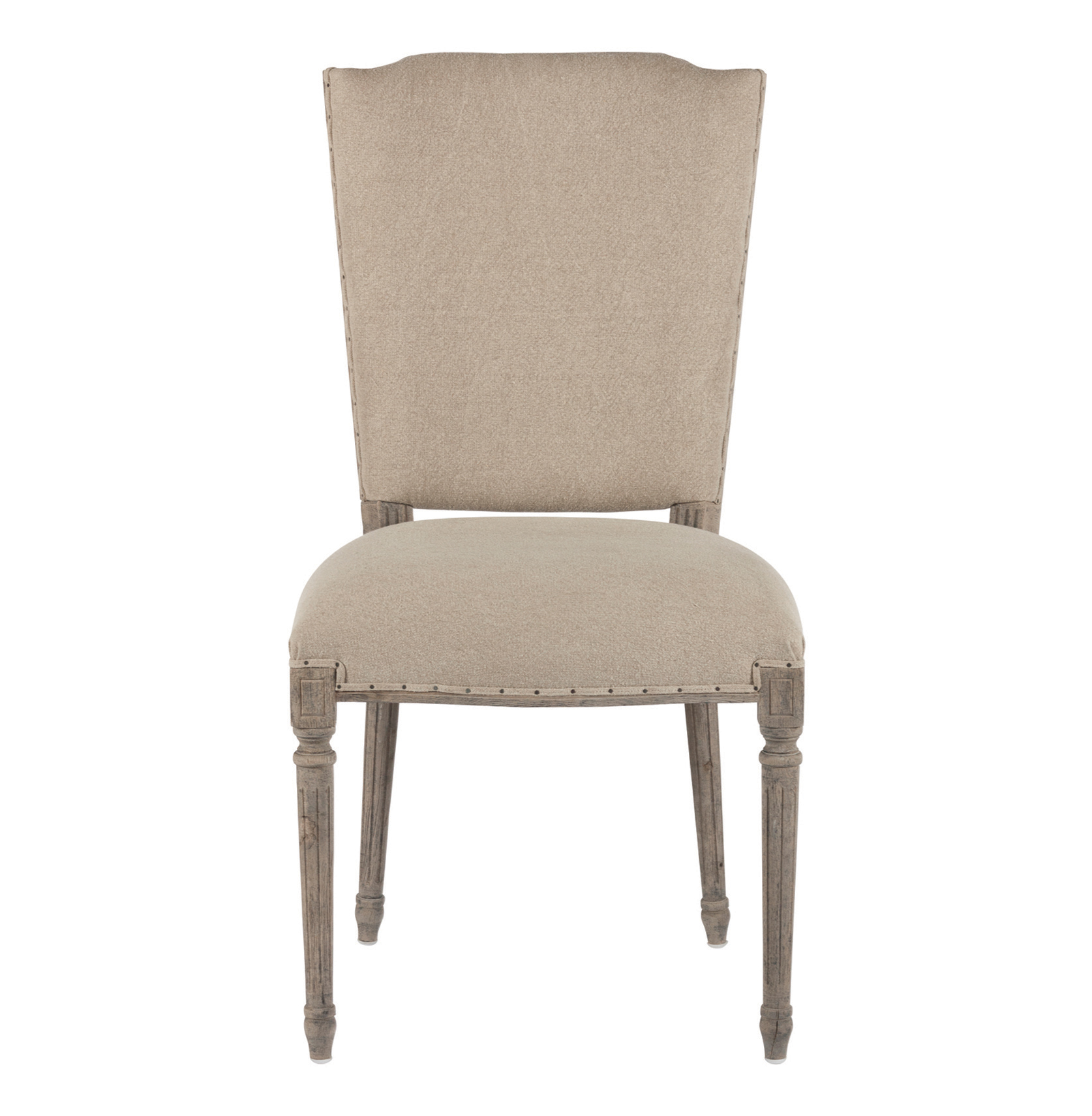 burlap dining chair covers memory foam pair ethan french country stenciled letters