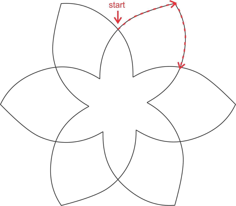 Machine Quilting Practice #4: Star Motif