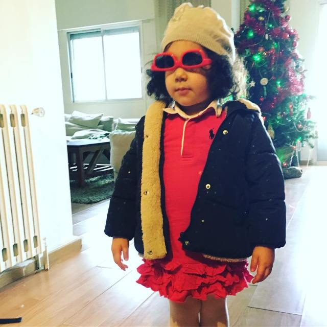 My little fashionista! She is definitely making a statement hellip