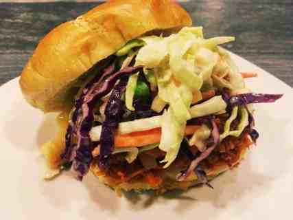 """vegan-bbq-pulled-sweet-potato-sandwiches-with-pineapple-slaw-8-1-300x225 Vegan BBQ """"Pulled"""" Sweet Potato Sandwiches with Pineapple Slaw"""