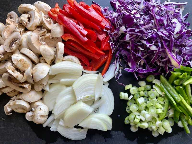 vegetables for pad thai
