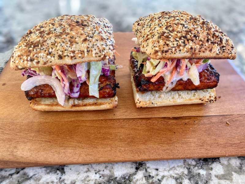 BBQ temepeh sandwiches