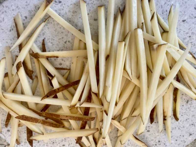 Madoline cut french fries