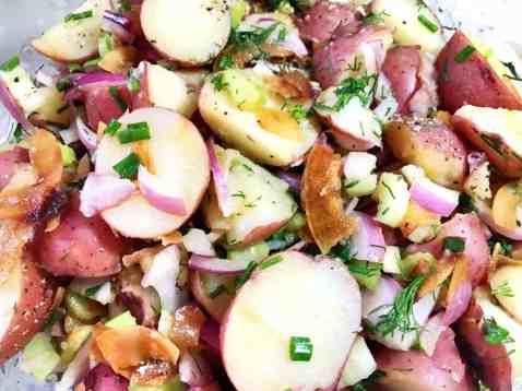45455985561_44f545263d_o-1-300x225 Vegan German Potato Salad with Smokey Coconut Bacon