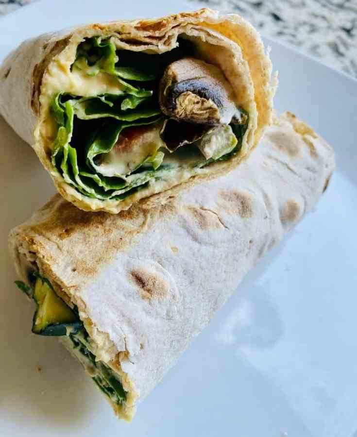 Roasted Vegetable and Hummus Grilled Lavash Wrap