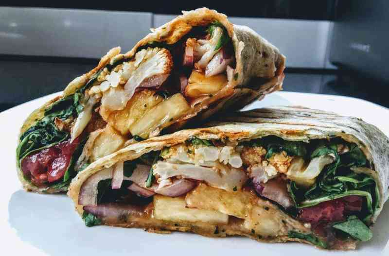 BBQ cauliflower wrap