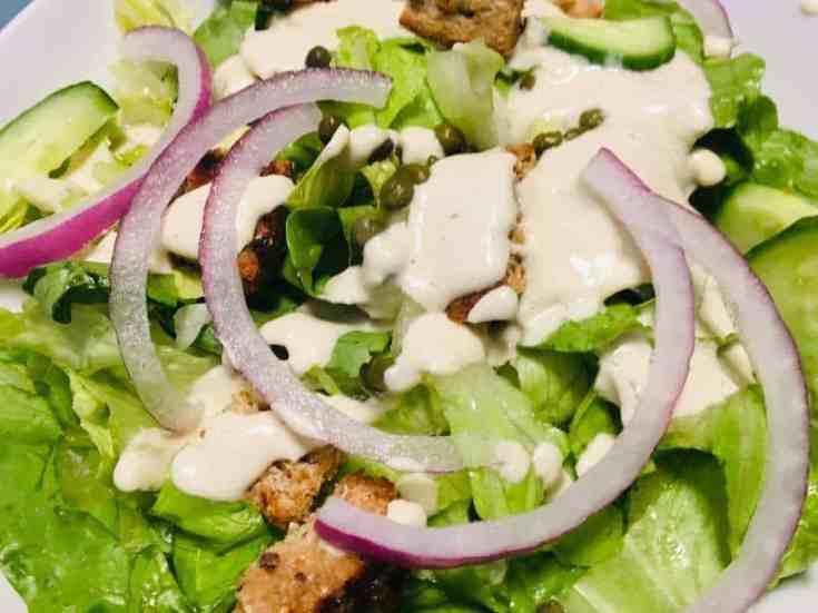 Skinny Vegan Caesar Salad
