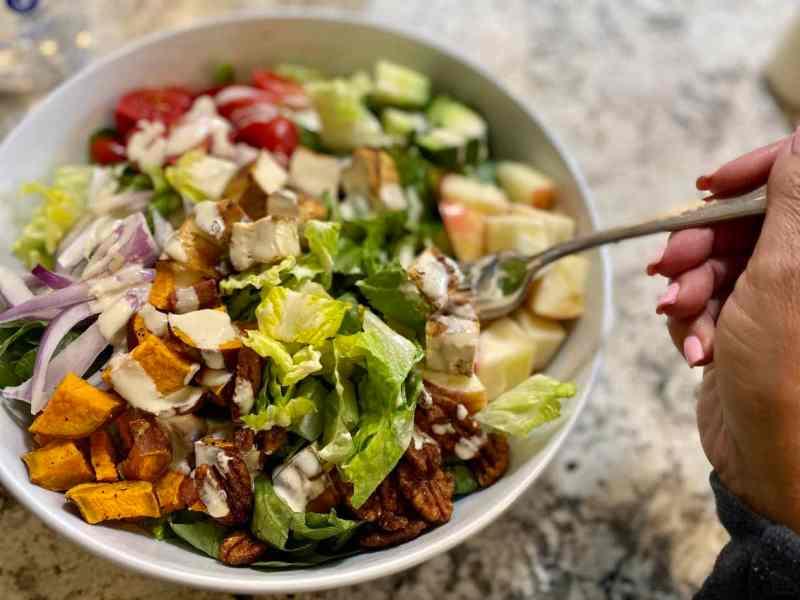 harvest salad tossed