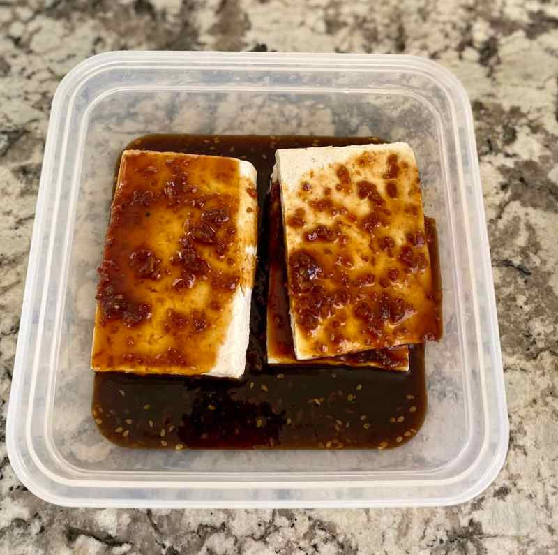 Teriyaki Tofu Marinated