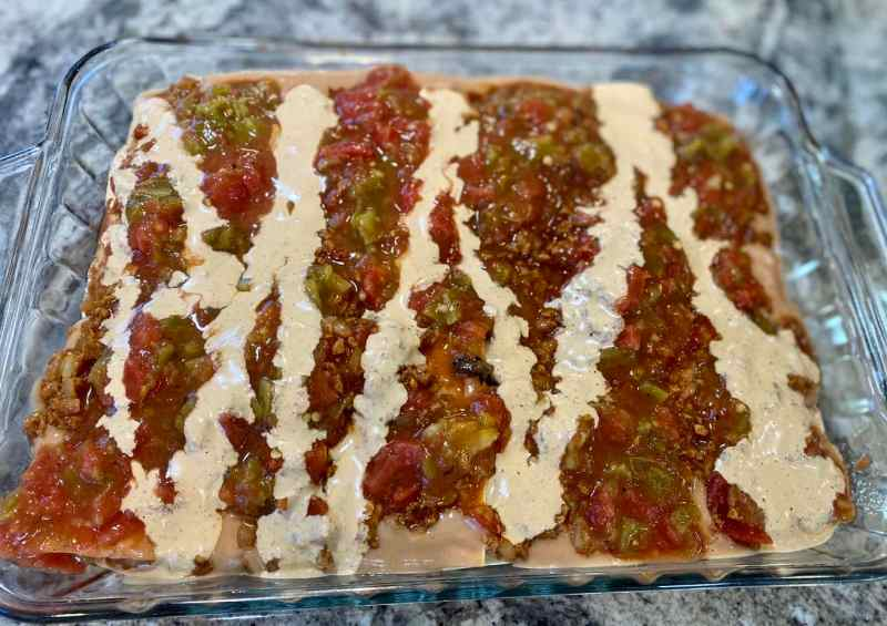 mexican lasagna last layer