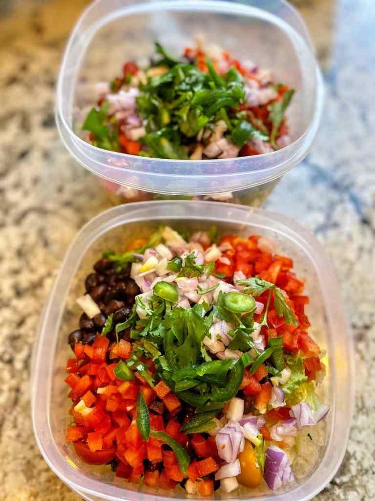 Meal Prep Vegan taco salad