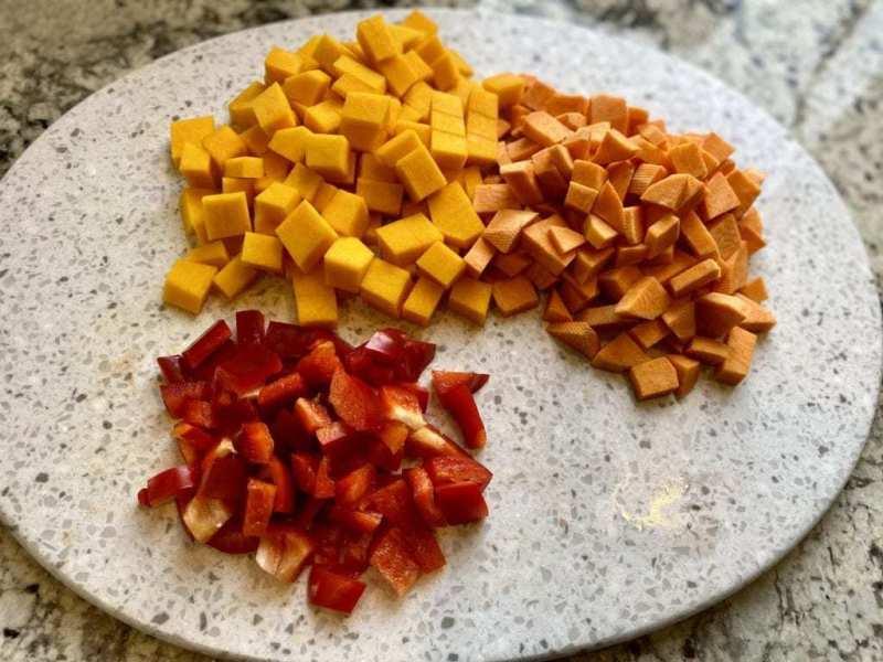 Vegetables to roast vegetable barley soup