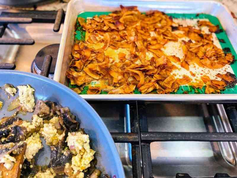 coconut-bacon-for-vegan-breakfast-burrito-1-1024x768 Vegan Breakfast Burrito