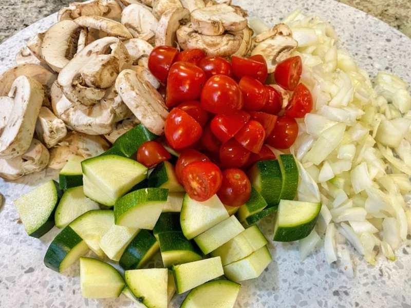 Vegetables for Vegetable Fritatta