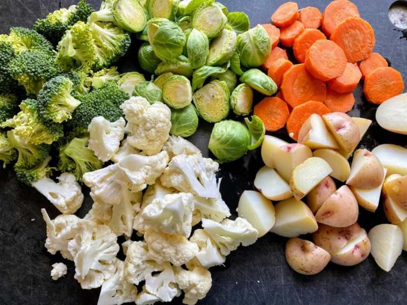 Roasted vegetables phase 1