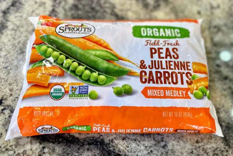 frozen peans and carrots