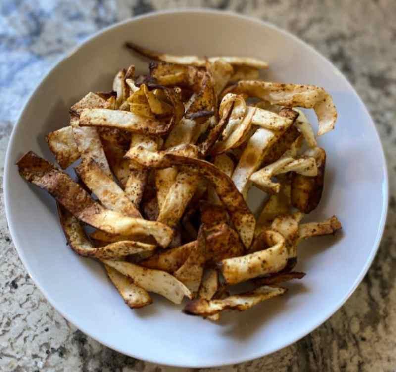 Air-fried tortilla strips