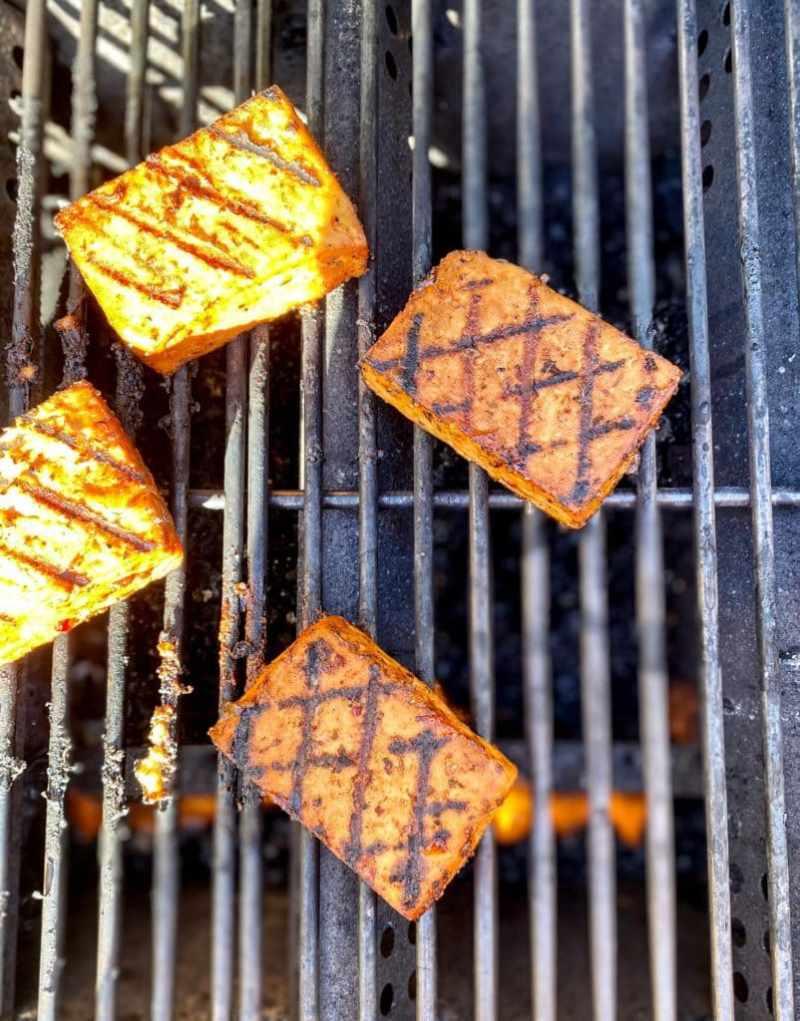 Grilled jerk tofu