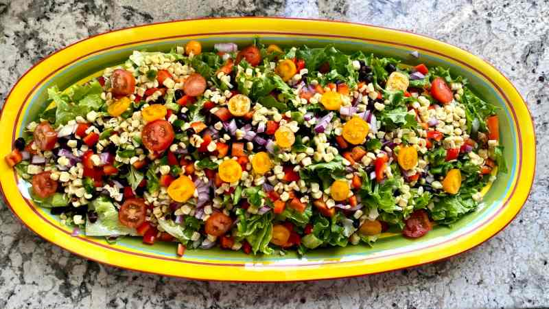 Southwest Salad Presentation